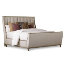 Cityscapes Queen Chelsea Upholstered Shelter Sleigh Bed