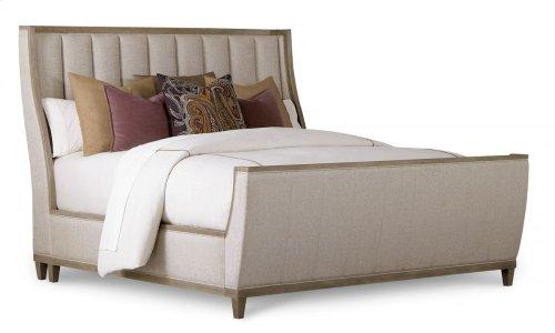 Cityscapes California King Chelsea Upholstered Shelter Sleigh Bed