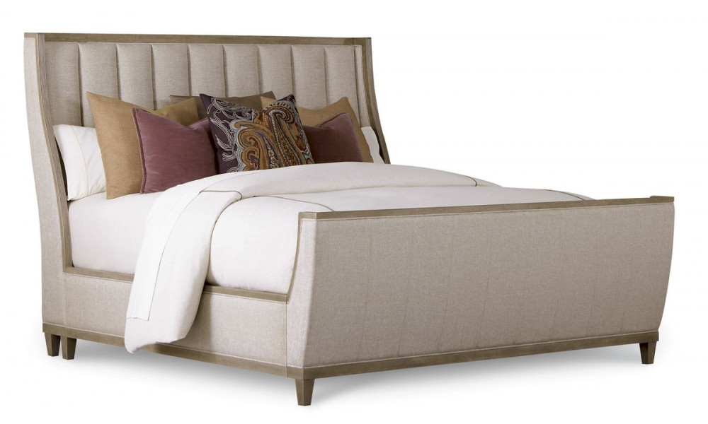 Cityscapes California King Chelsea Upholstered Shelter Sleigh Bed
