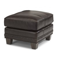 Port Royal Leather Ottoman Product Image