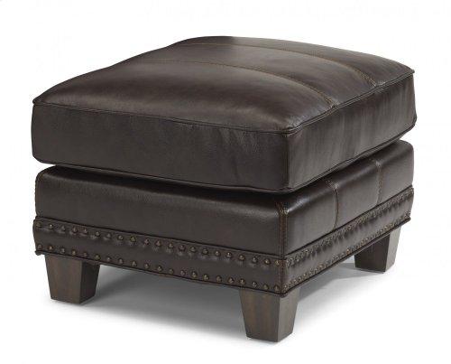 Port Royal Leather Ottoman