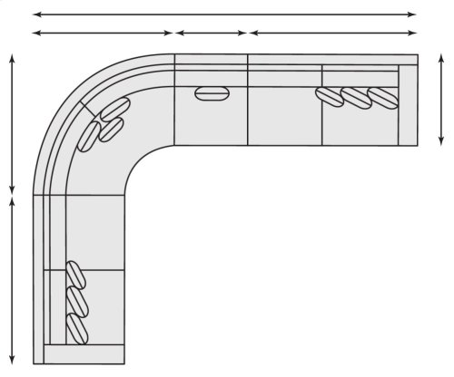 Lockett Sectional in Mocha (751)