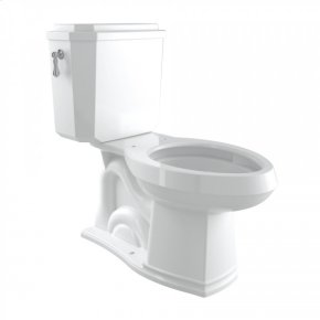 Polished Chrome Perrin & Rowe Deco Elongated Close Coupled 1.28 Gpf High Efficiency Water Closet/Toilet