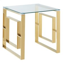 Eros Accent Table in Gold