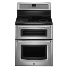 6.7 cu. ft. Capacity Double Oven Induction Range with Speed Heat Element