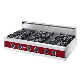 "Apple Red 42"" Open Burner Rangetop - VGRT (42"" wide, six burners)"