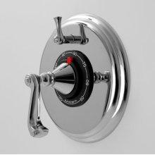 """1/2"""" Thermostatic Shower Set with Charlotte Handle and One Volume Control (available as trim only P/N: 1.000496.V1T)"""