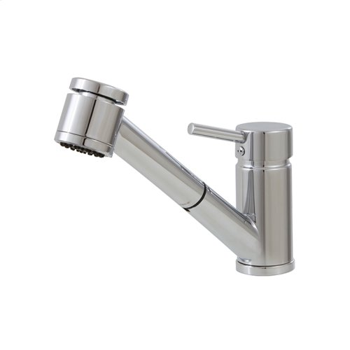 Pull-out dual steam mode kitchen faucet