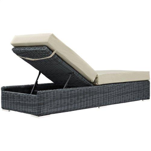 Summon Outdoor Patio Sunbrella® Chaise Lounge in Canvas Antique Beige