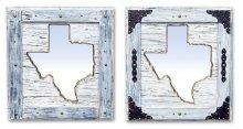Large White Texas Mirror Da