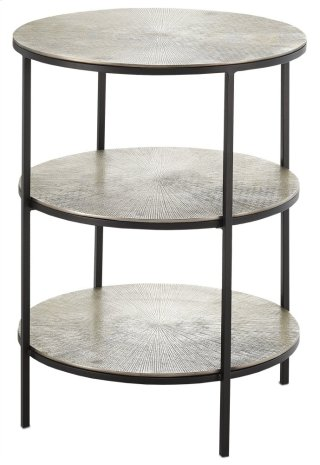Cane Accent Table - 26.25h x 20dia.