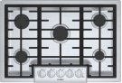 "800 Series, 30"" Gas Cooktop, 5 Burners, Stainless Steel Product Image"