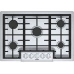 "Bosch800 Series, 30"" Gas Cooktop, 5 Burners, Stainless Steel"