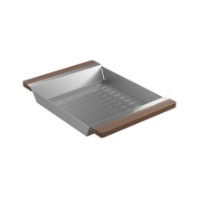 Colander 205040 - Walnut Fireclay sink accessory , Walnut