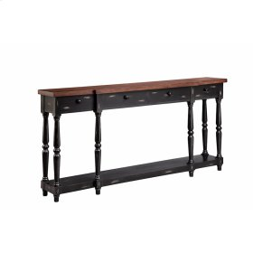 Simpson 4-drawer Console In Black