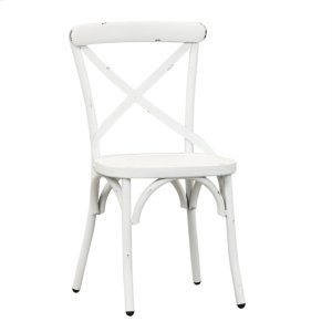 Liberty Furniture Industries X Back Side Chair - Antique White
