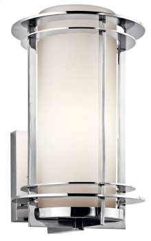 """Pacific Edge 13.25"""" Wall Light Polished Stainless Steel"""