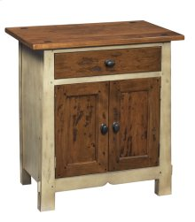 Nightstand w/ One Drawer and Two Doors