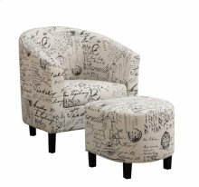 Accent Chair With Ottoman