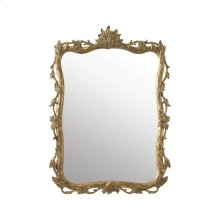 HAND-CARVED WOODEN MIRROR