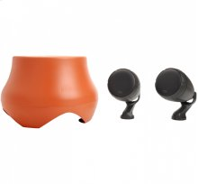 Atrium outdoor loudspeaker and subwoofer system in Terracotta/Chestnut