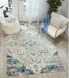 Fusion Fss13 Cream Blue Rectangle Rug 7'10'' X 10'6''