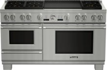 60 inch Professional Series Pro Grand Commercial Depth Dual Fuel Steam Range PRD606RESG