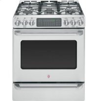 "GE Cafè 30"" Free-Standing Dual-Fuel Convection Self-Cleaning Range with Baking Drawer"