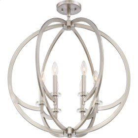 Orion Chandelier in Brushed Nickel