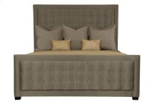 Queen-Sized Jet Set Upholstered Panel Bed in Caviar (356)