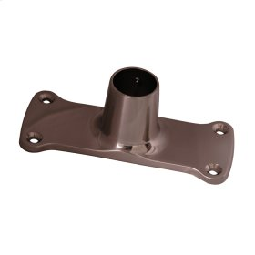 Jumbo Shower Rod Flange - Polished Brass