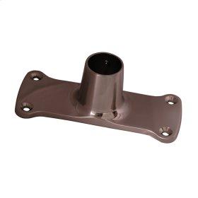 Jumbo Shower Rod Flange - Brushed Nickel