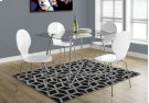 """DINING TABLE - 36""""X 48"""" / CHROME WITH 8MM TEMPERED GLASS Product Image"""