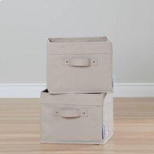 Canvas Baskets, 2-Pack - Beige