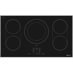 "Euro-Style 36"" Induction Cooktop, Stainless Steel"