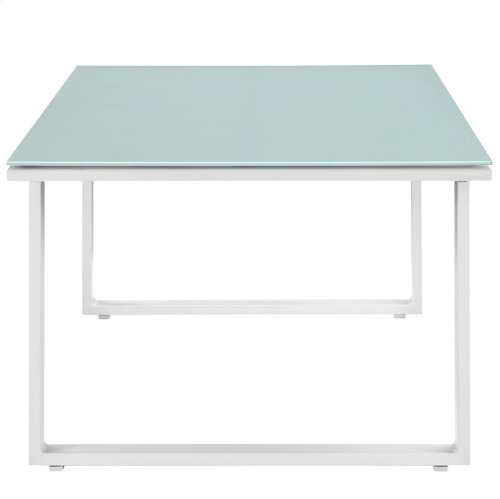 Fortuna Outdoor Patio Coffee Table in White