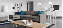 Open base design modular sofa