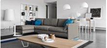 Open base design modular sofa