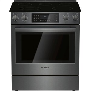 "Bosch30"" Electric Slide-in Range Black Stainless Steel"