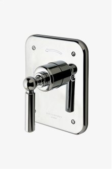 Ludlow Pressure Balance Control Valve Trim with Metal Lever Handle STYLE: LDPB10