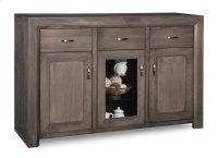 Contempo Sideboard w/2 Wood Doors &1/Center Glass Door &3/Dwrs & 2/Wood & Glass Adjust. Product Image