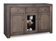 Contempo Sideboard w/2 Wood Doors &1/Center Glass Door &3/Dwrs & 2/Wood & Glass Adjust.