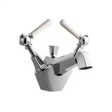 Waldorf White Single Lever Lavatory Faucet - Polished Chrome