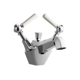 Waldorf White Single Lever Lavatory Faucet