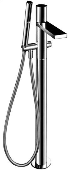 Floor-mount bathtub mixer