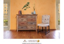 Chest w/8 drawers, multicolor finish