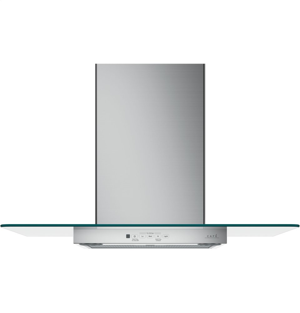 """Caf(eback) 30"""" Wall-Mount Glass Canopy Chimney Hood  STAINLESS STEEL"""