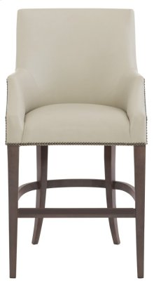 Keeley Leather Counter Stool in Cocoa