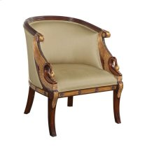 MAHOGANY EMPIRE ARMCHAIR