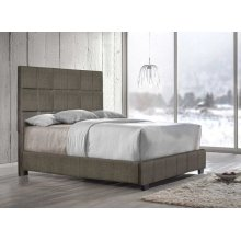 """Brooklyn King Bed, Nickel 82""""x4""""x58"""""""